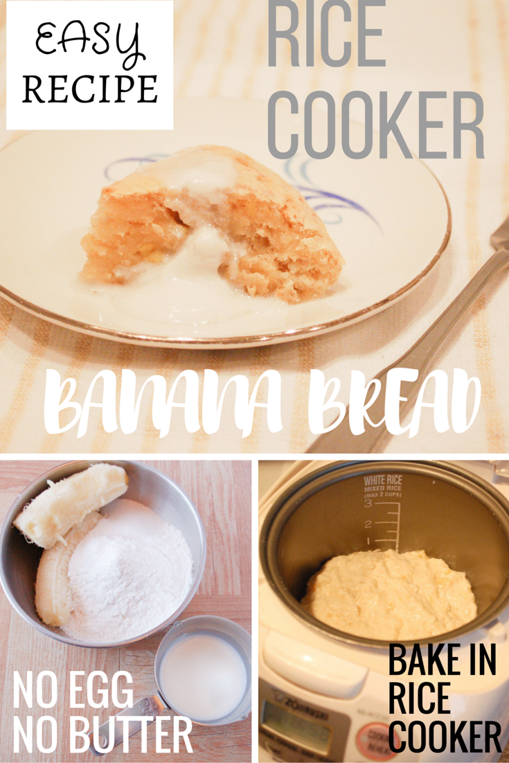 "Recipe: Moist ""Rice Cooker"" Banana Bread without Eggs or ..."